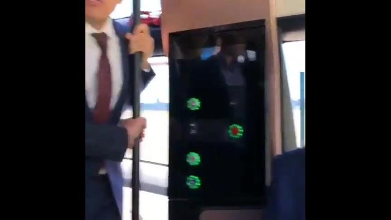 В Казани показали электробус КамАЗ-1221 ШАТЛ