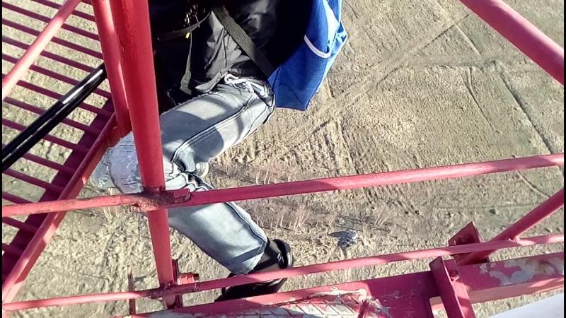 зацэп на 15 метровой высоте