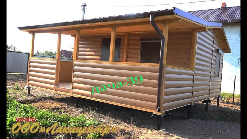 Модульный домик 7,00*7,35 с высокой крышей и верандой