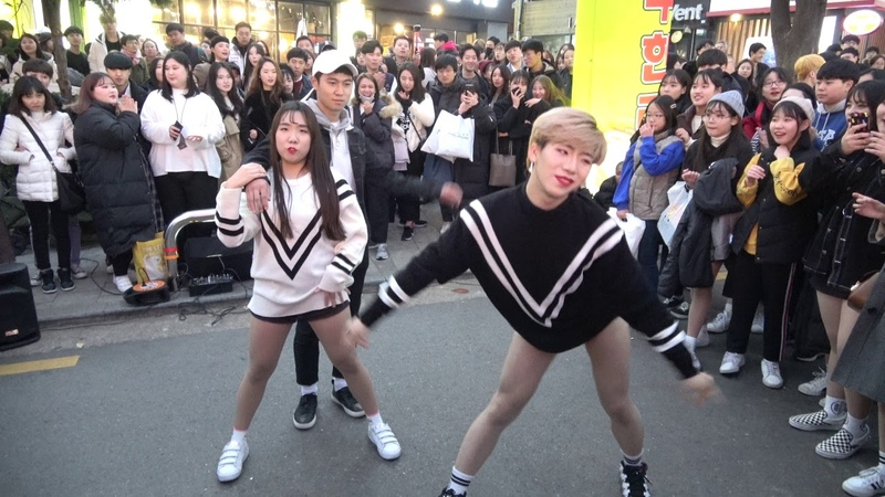 홍대레드크루 - Brown Eyed Girls - Kill Bill - 홍대 걷고싶은거리 버스킹 2018.11.17일.hnh.