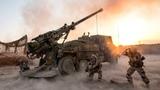 French Troops Firing CAESAR 155mm Artillery System