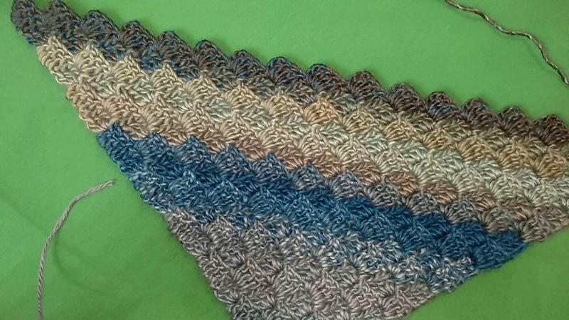 Бактус крючком МК Crochet baktus C2C