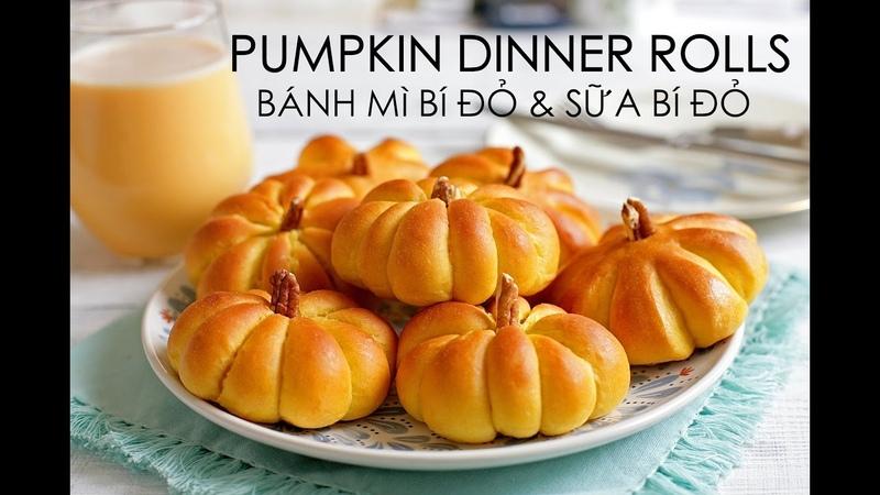 Soft Fluffy PUMPKIN DINNER ROLL recipe - Cách làm BÁNH MÌ SỮA BÍ ĐỎ