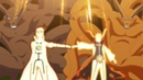 Наруто и Минато телепортируют всех шиноби.