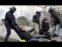 Woman violently dragged by French cop during Yellow Vests protest in Lyon