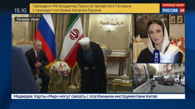 Новости на Россия 24 Путин встретился со своим иранским коллегой Рухани