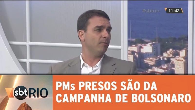 PMs presos participaram da campanha de Flávio Bolsonaro