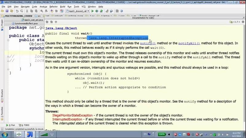 GolovachCourses Java Multithreading 02.06.2014 Lecture 05