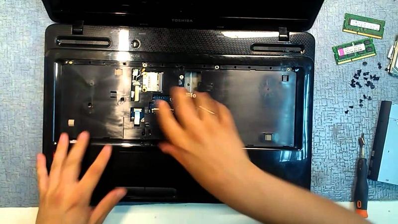 Как разобрать и почистить ноутбук Toshiba satellite L670 Toshiba satellite L670 disassembly