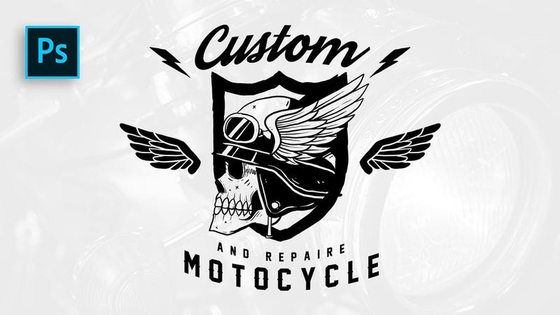How to Create Custom Badge Logo easy Photoshop Tutorials