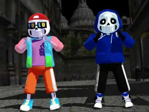 Mmd dance sans and fresh sans - they like me