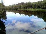Висячий мост через реку Тихвинку