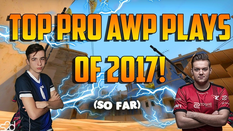 THE BEST PRO AWP PLAYS OF 2017! - CS:GO (Feat. NiKo, kennyS, jdm64 More!)