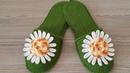 Papatya Bahçesi Terlik Chamomile slippers Ev Terliği Uyarlama Dizayn Suzan Ayin