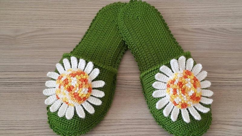 Papatya Bahçesi TerlikChamomile slippers Ev Terliği (UyarlamaDizaynSuzan Ayin)