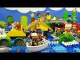 Строим из Lego Duplo, Build and Play toys Lego, Лего Дупло - Flood, natural disaster (Наводнение)
