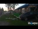 Дом в Казачинском протаранила машина