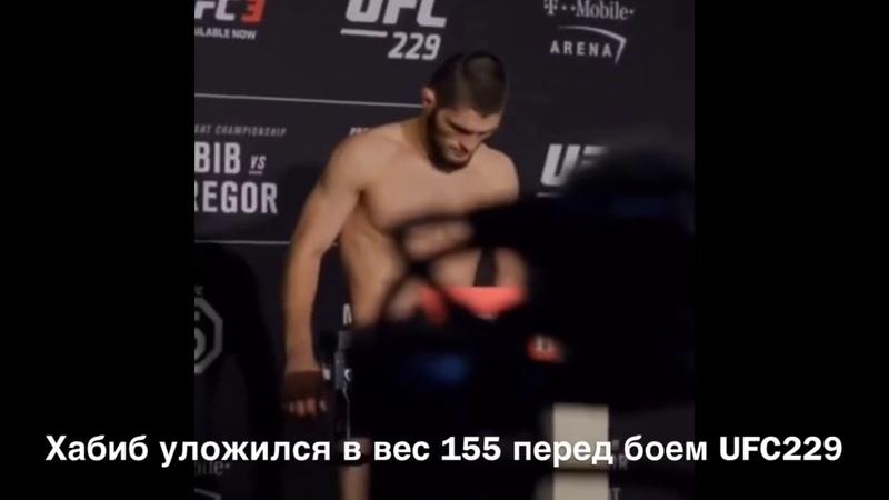 Хабиб Нурмагомедов Официальное взвешивание UFC 229 155 фунтов 70 3 кг