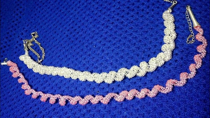 Spiral necklace Diamond shine. Спиральное колье Бриллиантовый блеск.