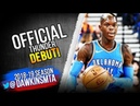 Dennis Schroder Official Thunder DEBUT 2018.10.16 vs GSW - 21 Pts, 9 Rebs, 6 Asts! | FreeDawkins