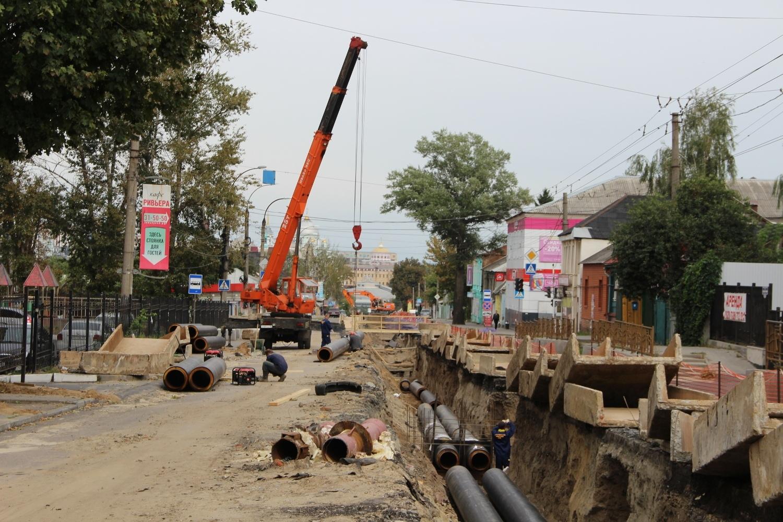 Реконструкцию теплосети на улице Красной Армии завершат к середине октября