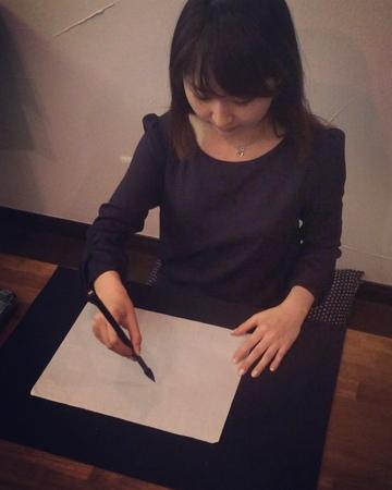 "Japanese calligrapher 書道家 笹島沙恵 on Instagram ""夏といえば?シリーズ② 『そうめん』 今回1239"