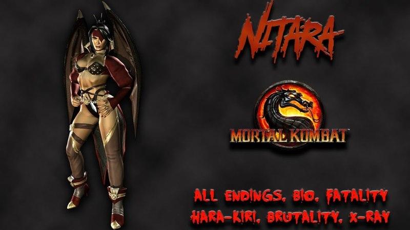 Mortal Kombat - All Fatality, Bio, Ending - Nitara