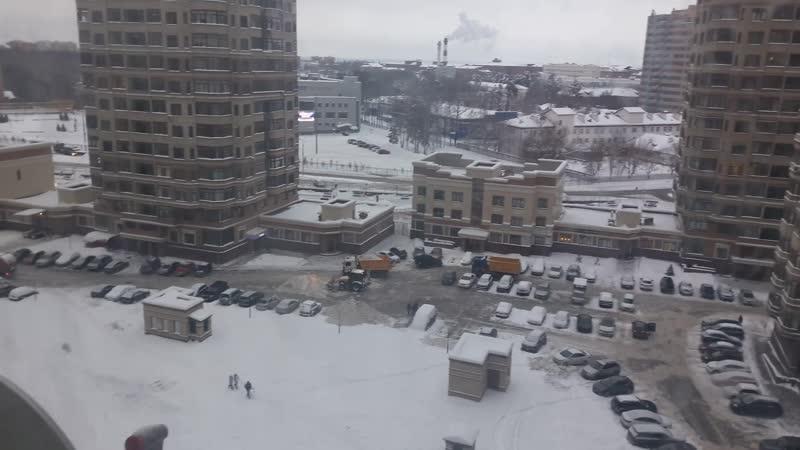 Механизированная уборка снега январь 19 г Жк Раменский