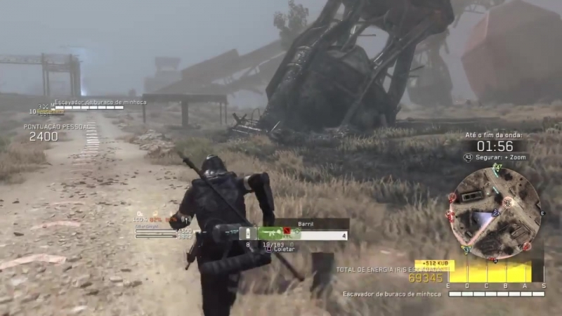 Metal Gear Survive PS4 Beta Missão LVL10 Easy Multiplayer 3 Players S Rank