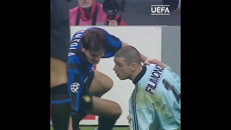 Два сейва Филимонова в матче Лиги чемпионов с Интером