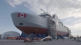 Moving the Final Mega Block of the Future HMCS Harry DeWolf Irving Shipbuilding