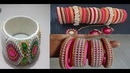 Trendy Silk Thread Bangles Decoration With Pearls