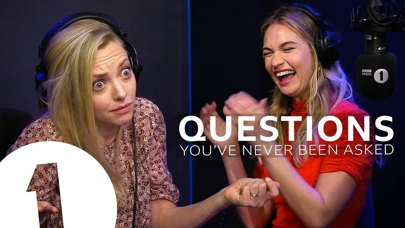 Mamma Mia's Amanda Seyfried Lily James answer questions they've never been asked