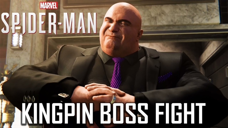 KINGPIN vs SPIDER-MAN Full Boss Fight - Marvel's Spider-Man PS4 PRO 1080p HD