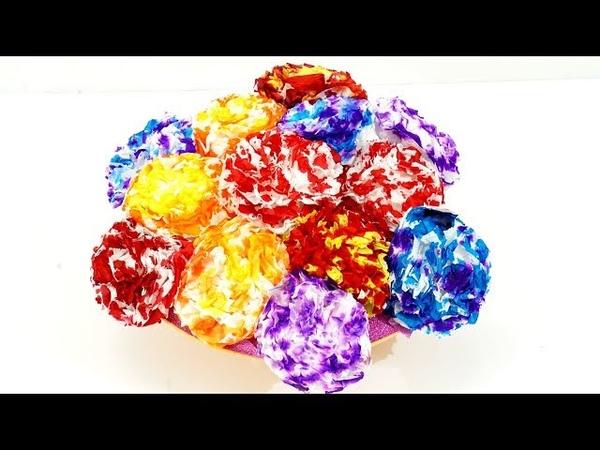Easy DIY Paper Flower Making using Tissue Papers | Tissue Paper Crafts | How to Make Paper Flowers
