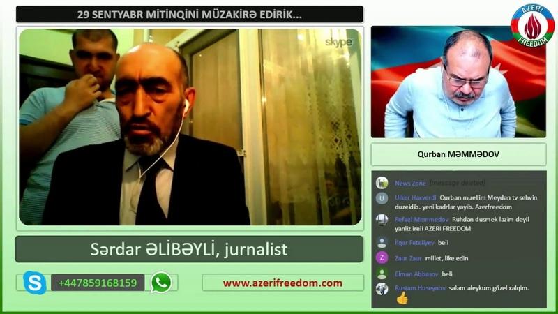 29 Sentyabr mitinqinə daxildən və kənardan baxış. Sərdar Əlibəyli.
