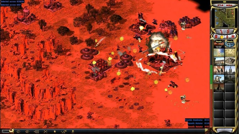 Red Alert 2 Yuri's Revenge - 1 vs 1 Yuri vs Yuri Pro Match on the map Hidden Valley part 2