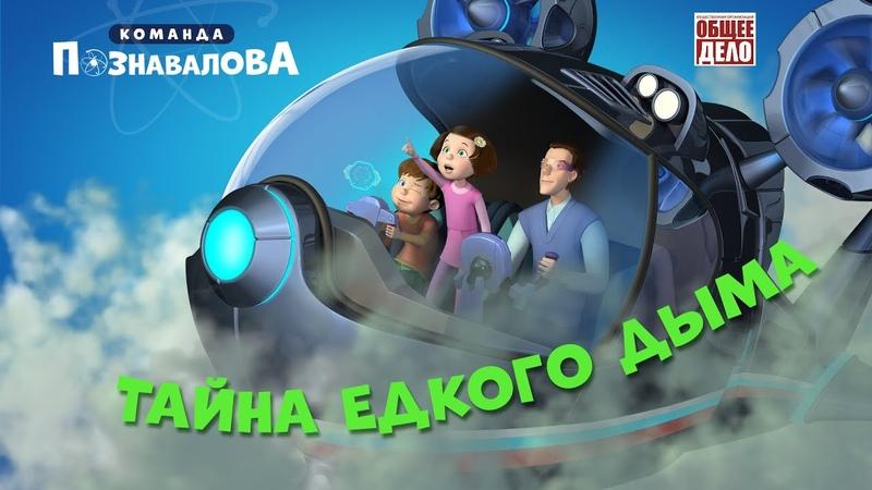 Мультфильм Команда Познавалова Тайна едкого дыма