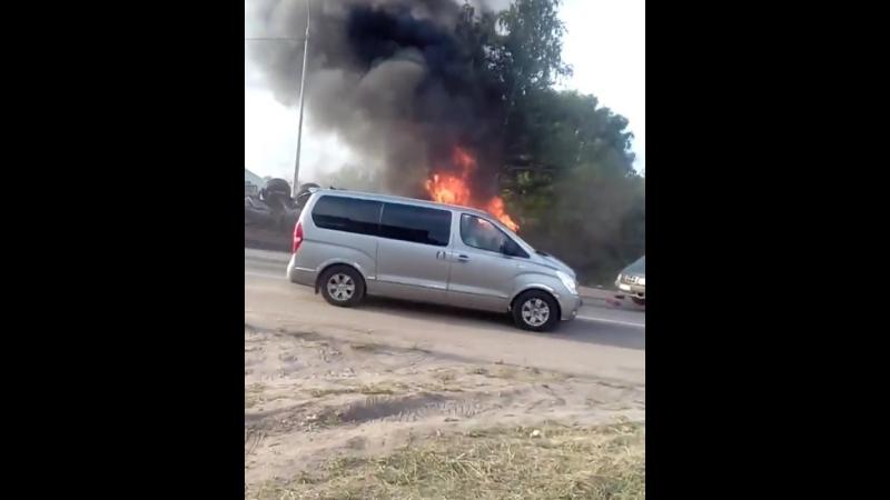 Пресс-служба ГУ МЧС по Рязанской области сообщила подробности крупного ДТП на Южной окружной дороге Рязани.  Информация об авари