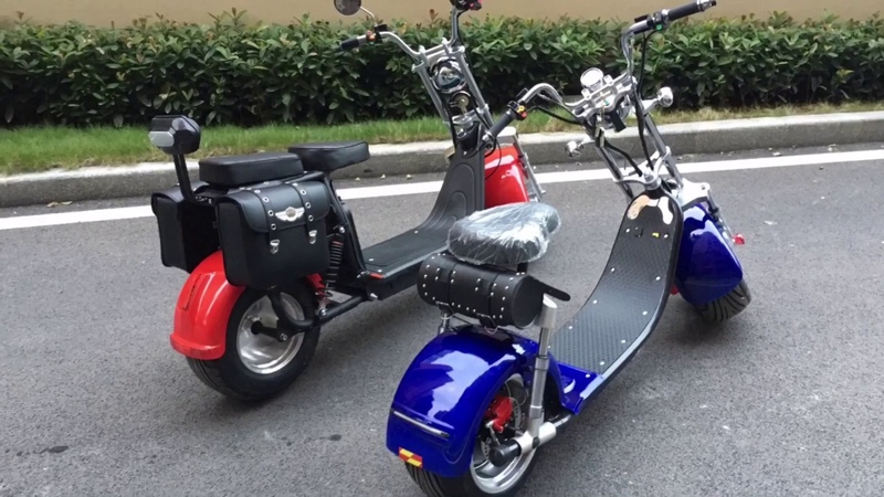 EEC COC approved citycoco electric scooter harley Road legal big wheel Rooder