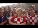 Президента Хорватии обратилась к российским болельщикам по-русски на ЧМ-2018