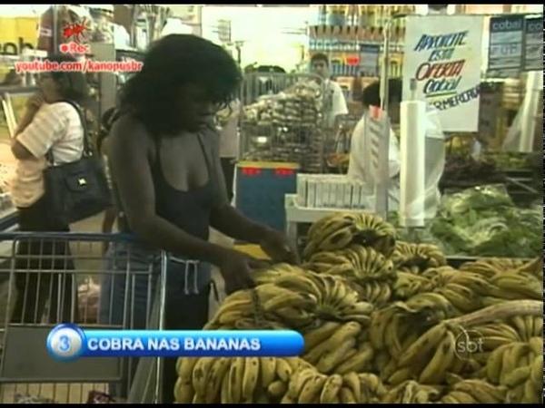 Pegadinha Câmera Escondida Cobra nas Bananas