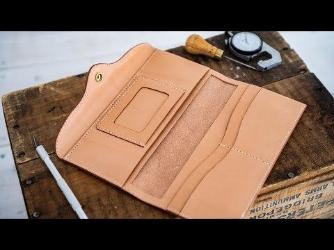 Making a Womens Leather Long Wallet