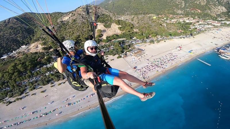 Параглайдинг в Олюдениз. Фетхие: прыжок с горы Бабадаг ...