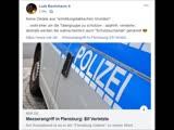 Stand. 25.11.2018 10.54 Uhr - Lesezeit.ca.2 Min.Messerangriff in Flensburg...Elf Verletzte