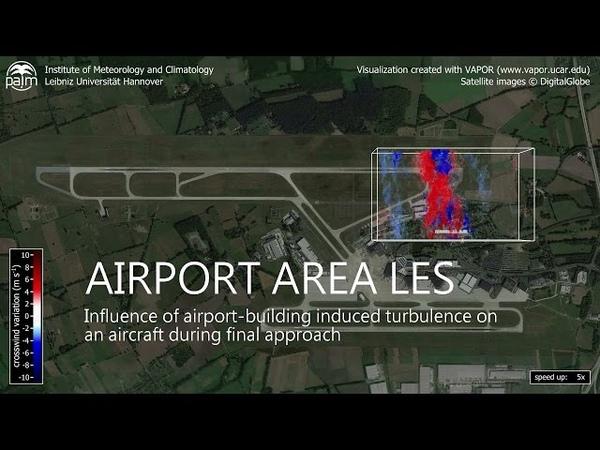 Airport Area Large-Eddy Simulation