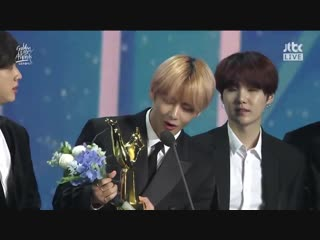 190105 BTS win 2019 Global VLIVE Top 10 Best Artist @ 33rd Golden Disc Awards