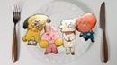BT21 방탄소년단 캐릭터 팬케이크 만들기 1편 (BT21 Tata, Chimmy, RJ, Cooky)