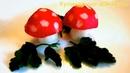 Милые грибочки из редиса! Роза из помидора! Украшения из овощей!