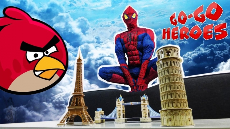 Go Go Heroes • ЧЕЛОВЕК ПАУК против ЭНГРИ БЕРДЗ: противостояние!